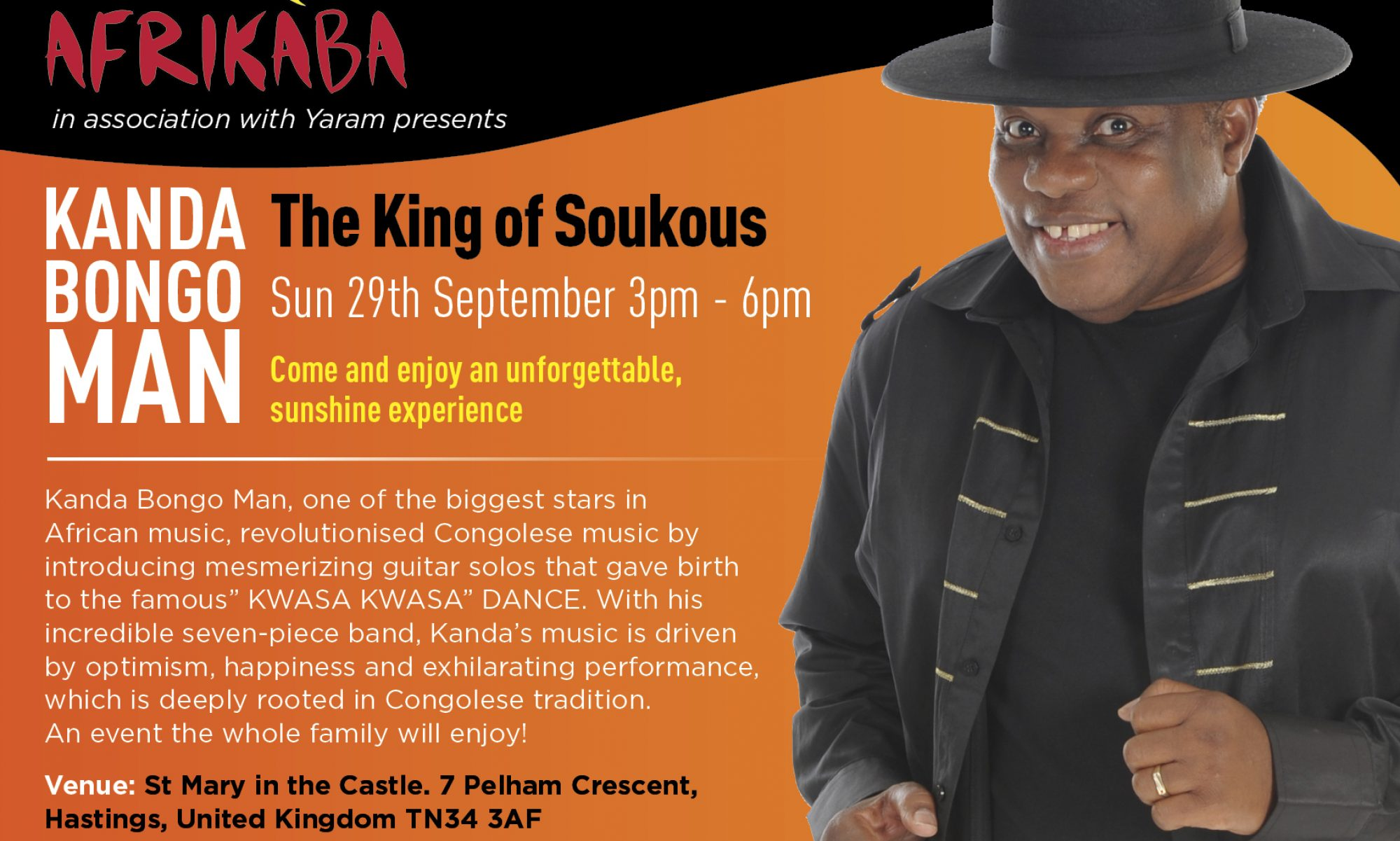 AfriKàBa - The Festival of African & Caribbean Heritage, Arts & Culture - Buy Your ticket today for Kanda Bongoman!